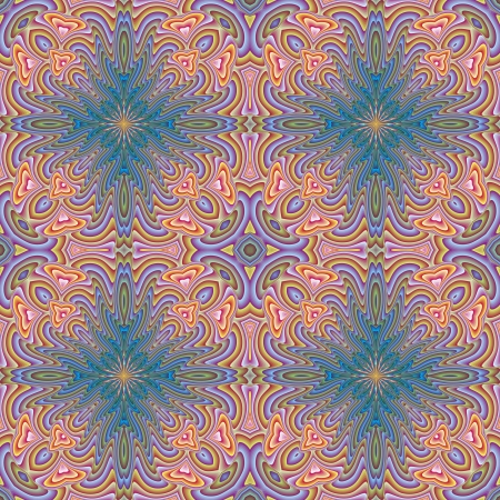 byzantine: Oriental historic vector pattern, seamless with arabesque motifs, sophisticated in vivid and bright rainbow colors