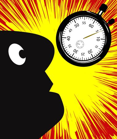 burn out: Burnout by pressure of time can be dangerous to your health Stock Photo