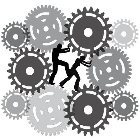Dagelijks werklast last van een wanhopige en vervelend werk