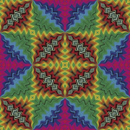 fussy: Fussy disco vector pattern inspired by art deco in brilliant colors
