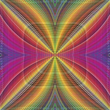 kinky: Funky disco pattern in vector art with optic and psychedelic illusion due to two lacy textures on top of each other, seamless
