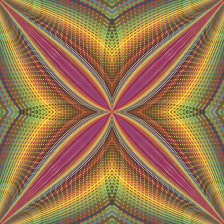 psycho: Funky disco pattern in vector art with optic and psychedelic illusion due to two lacy textures on top of each other, seamless