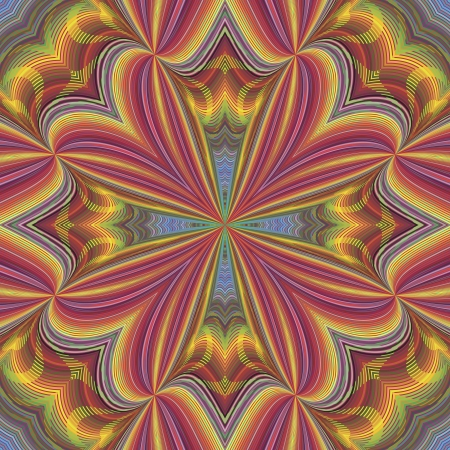 hypnosis: Funky disco pattern in vector art with optic and psychedelic illusion due to two lacy textures on top of each other, seamless