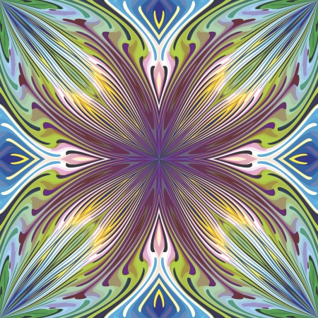 pattern in trendy art nouveau style, vibrant and lucid, seamless