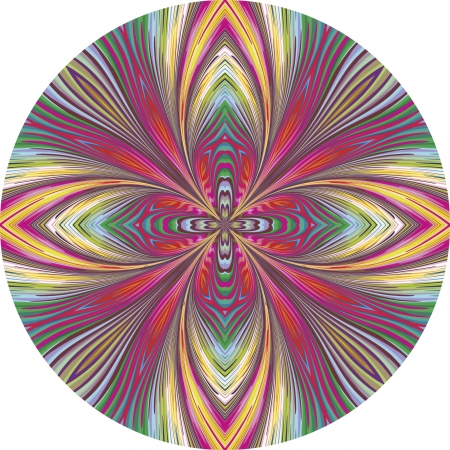 Round orchid pattern in trendy art nouveau style, vibrant and lucid