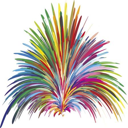 Fontaine couleur comme symbole de la créativité, de l'innovation et de la spontanéité Vecteurs