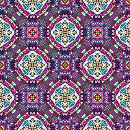 Mexican vector pattern, sophisticated artwork inspired by ancient motifs from Incas, Aztec in contemporary design and brilliant colors Vector