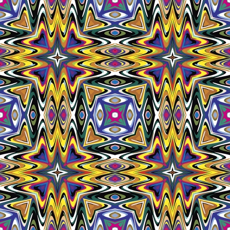 Mexican vector pattern, sophisticated artwork inspired by ancient motifs from Incas, Aztec in contemporary design and brilliant colors  イラスト・ベクター素材