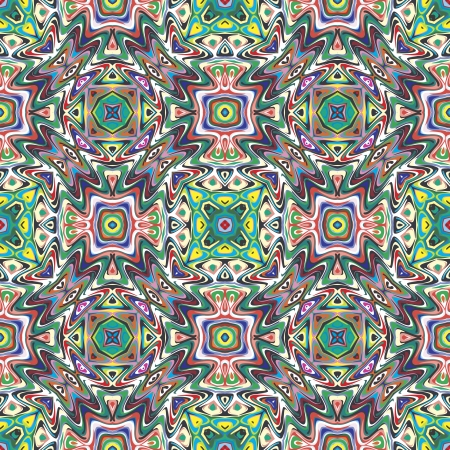 mayas: Mexican vector pattern, sophisticated artwork inspired by ancient motifs from Incas, Aztec in contemporary design and brilliant colors Illustration