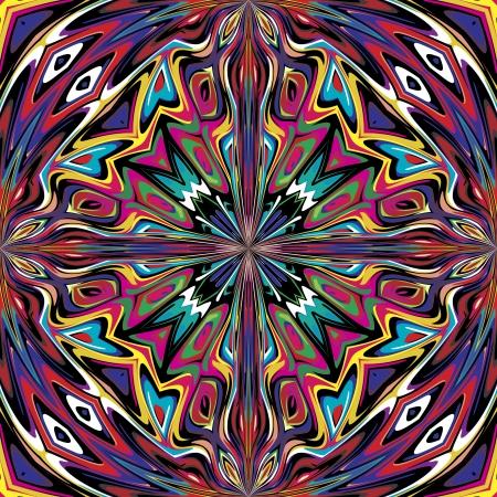 Mexicaine modèle vectoriel, illustration sophistiquée inspirée par des motifs antiques du Incas, Aztèques du design contemporain et des couleurs brillantes Vecteurs