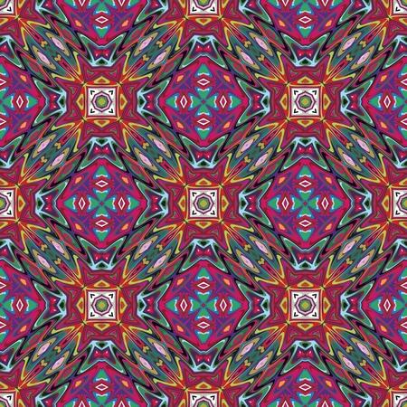 Vecteur modèle mexicain, art sophistiqué inspiré par des motifs antiques des Incas, les Aztèques du design contemporain et des couleurs brillantes Vecteurs