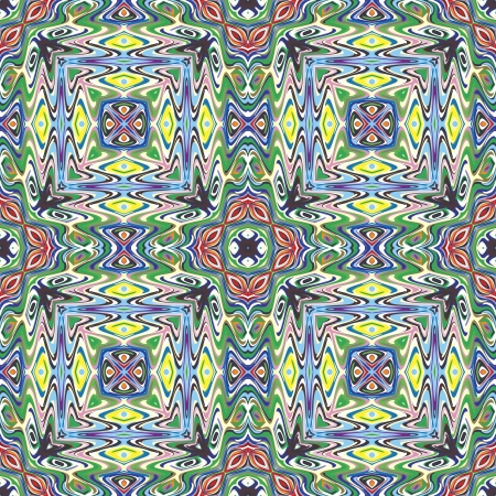 mayas: Modern Mexican fabric design in vivid and bright colors, seamless