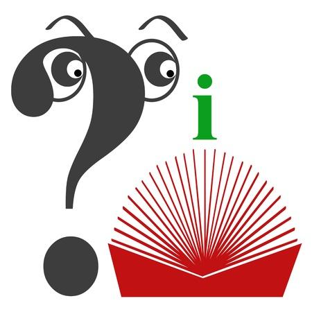 guidebook: Symbol for guidebook, self help book, how to manual Stock Photo