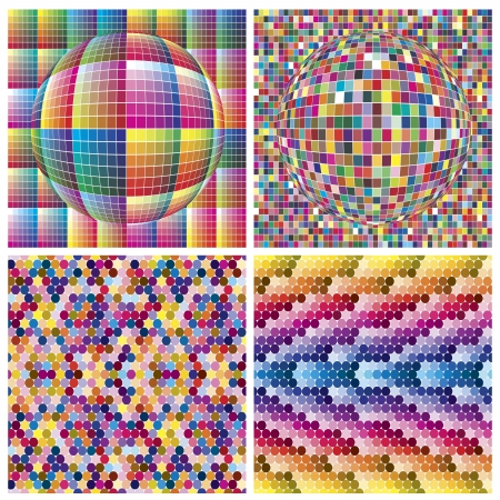 calibration: Set of vector color palettes showing more than 600 colors