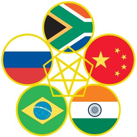 brics: BRICS, symbol of the association of emerging national economies, Brazil, Russia, India, China, South Africa