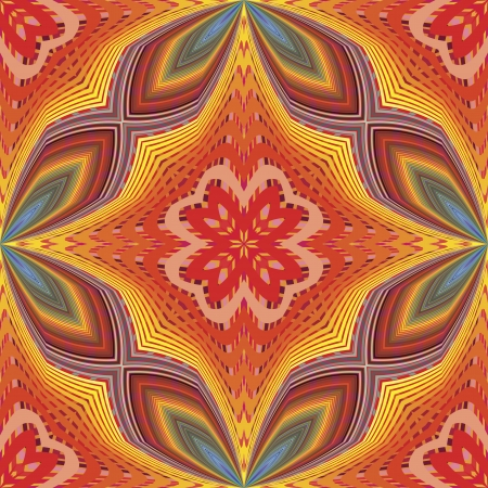 kinky: Funky pop art disco pattern in vector art with optic and psychedelic illusion due to two lacy textures on top of each other,   seamless