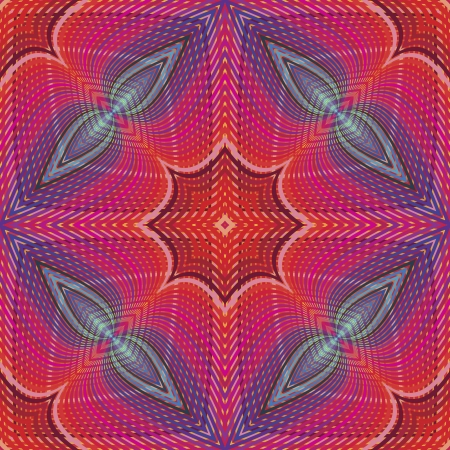illustion: Funky pop art disco pattern in vector art with optic and psychedelic illusion due to two lacy textures on top of each other,   seamless