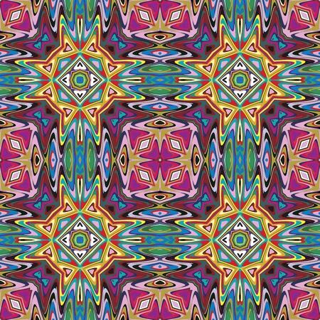 Design textile Seamless vecteur mexicaine moderne inspiré par les motifs anciens de Incas, les Aztèques du design contemporain et des couleurs brillantes Vecteurs