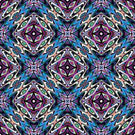 Design textile Seamless vecteur mexicaine moderne inspiré par les motifs anciens de Incas, les Aztèques du design contemporain et des couleurs brillantes