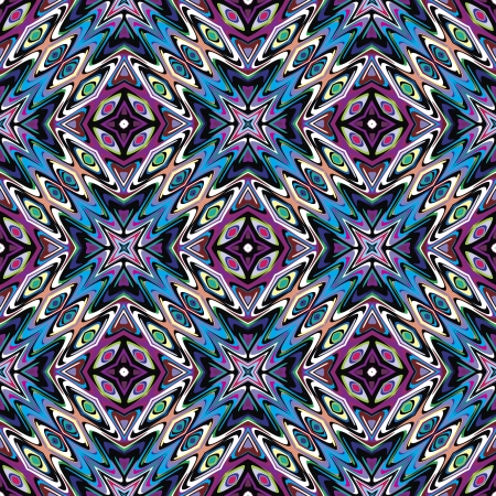 mayas: Modern Mexican textile design  Seamless vector pattern inspired by ancient motifs from Incas, Aztec in contemporary design and brilliant colors Illustration