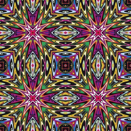 brilliant colors: Modern Mexican textile design  Seamless vector pattern inspired by ancient motifs from Incas, Aztec in contemporary design and brilliant colors Illustration