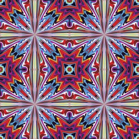 Conception de tissu moderne d'Amérique latine Seamless vecteur inspiré par des motifs antiques dans des couleurs vives Vecteurs