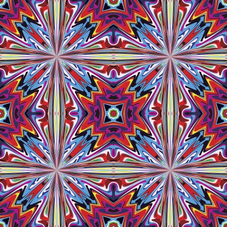 mayas: Modern fabric design from Latin America  Seamless vector pattern inspired by ancient motifs in vivid colors