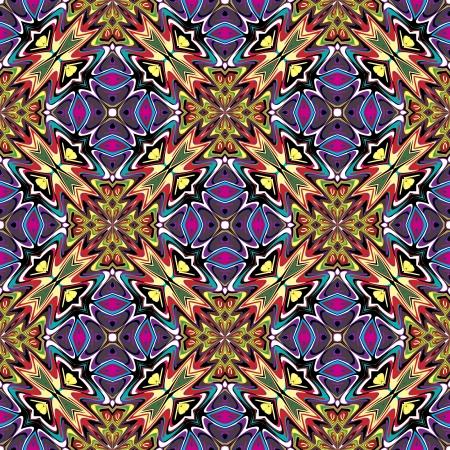 Conception de tissu moderne de l'Amérique Seamless vecteur latine inspirée par des motifs antiques dans des couleurs vives