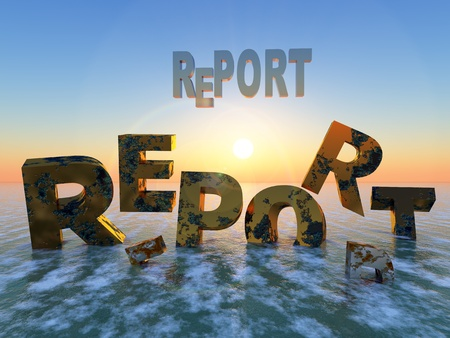 relevance: Expiry date of reports  Humorous illustration for a short-lived report going down the drain after short time Stock Photo