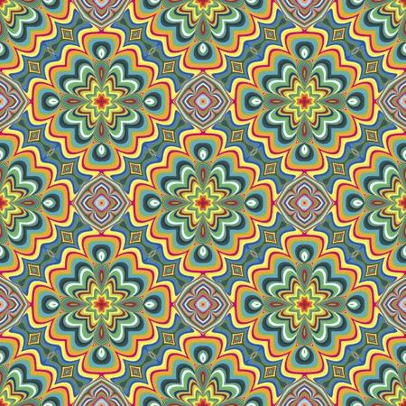 cultura maya: Modelo indio moderno con símbolos espirituales derivadas de motivos antiguos en colores vivos y brillantes, sin costura en el arte vectorial sofisticado Vectores