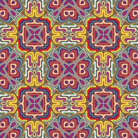 cultura maya: Modelo indio moderno con símbolos espirituales derivadas de motivos antiguos con colores vivos y brillantes, sin costura en el sofisticado arte vectorial