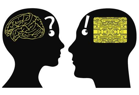 cognicion: Anal�gica y digital de mentes hombre y la mujer pueden tener diferentes formas de cognici�n y pensamiento