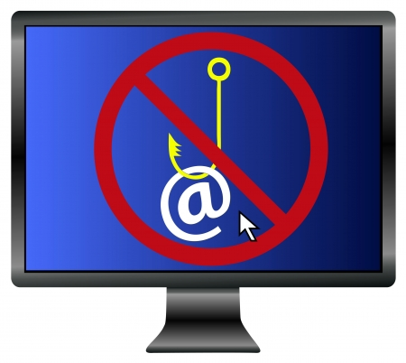 Protect you email traffic  Symbol for the importance of email security Stock Photo - 21529740