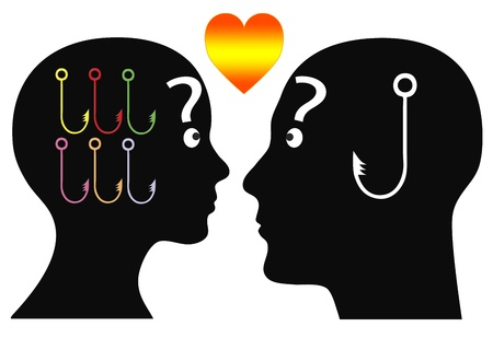 woo: Man and woman fighting for love   There are different ways and different means of catching mutual attention