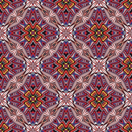 Modern textile design from the Caribbean  Seamless vector artwork in dynamic, vibrant and fancy colors, inspired by traditional motifs Stock Vector - 21749053