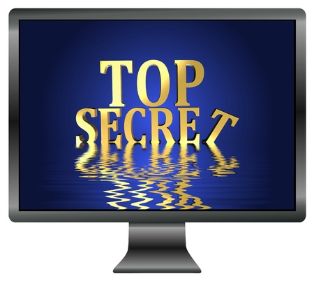 cyberwar: Top secrets at risk through spying and data leak, security concept for confidential information