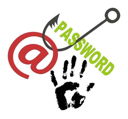 phishing: Protect your Account and Password  Concept of securing personal data and privacy Stock Photo