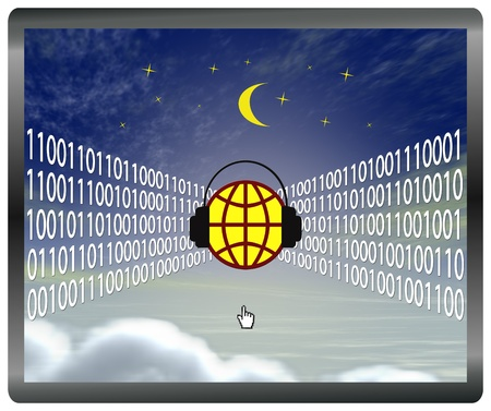 corporate espionage: Cloud computing at risk, web security concept