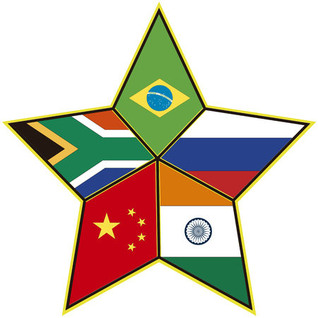 BRICS Symbol of the association of emerging national economies, Brazil, Russia, India, China, South Africa Stock Photo - 22560645
