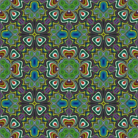 bangladesh: Trendy textile pattern from South Asia, seamless in vivid and bright colors