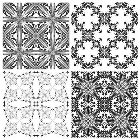 holy cross: Set of contemporary Holy Cross pattern derived from ancient motives in vector art which allows you to choose your own color   combination