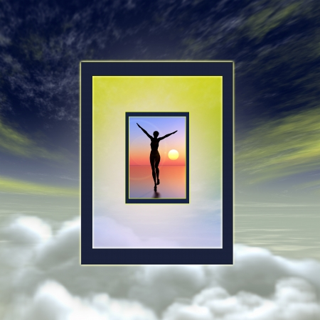 near: After life experience, symbolizing salvation or some transcendent experience
