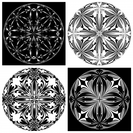 round window: Set of Rose Windows  Holy Cross symbols derived from ancient motifs in vector art which allows you to choose your own color   combination perfect for Chrismas decoration