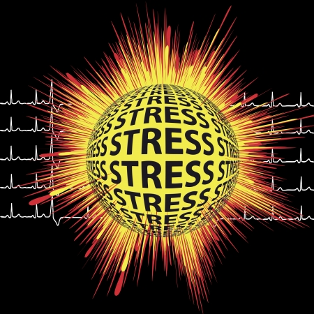 sudden: Stress and possible Heart Attack  Warning message that stress can lead to sudden death