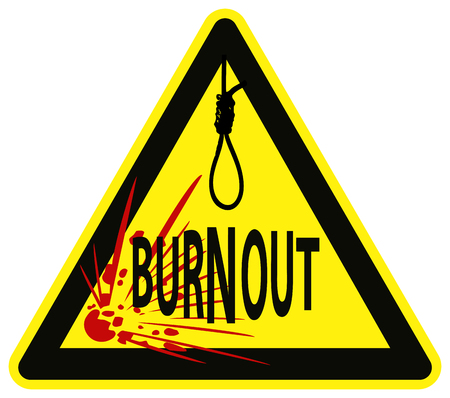 Caution  Job Burnout Syndrome can lead to Suicide Stock Vector - 23028833