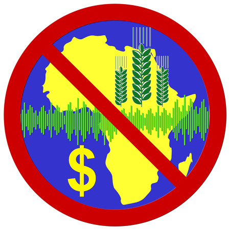 staple food: Stop speculating on wheat  Trading on stock market with staple food has negative impact on Africa Stock Photo