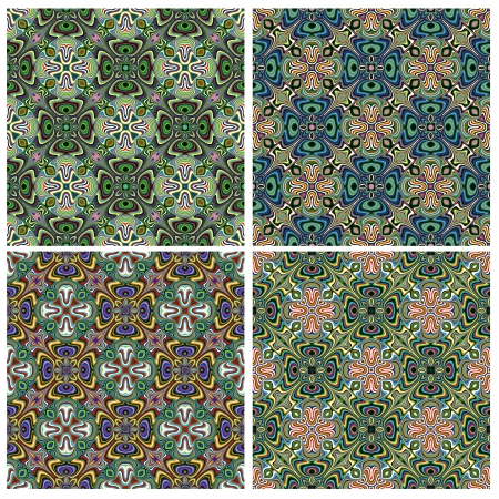 which one: Modern Indian Textile Design with spiritual symbols, one pattern with 4 different color combinations which allows you to make numerous seamless varieties