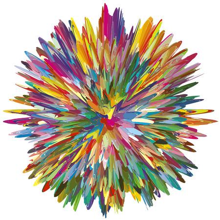 Color Explosion als symbool voor een creatieve geest Abstracte vector afbeelding met 216 verschillende felle en levendige kleuren