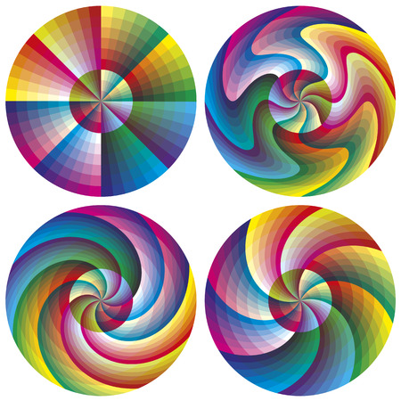 calibration: Vector Color Chart Set with 216 colors each for calibration, decoration or teaching purposes in different shapes
