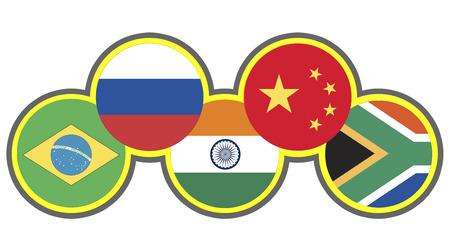 brics: BRICS  Symbol of the association of emerging national economies, Brazil, Russia, India, China, South Africa